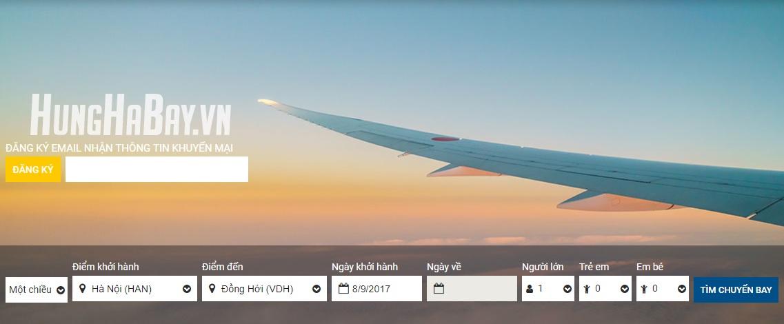 Đặt vé máy bay giá rẻ đi Đồng Hới