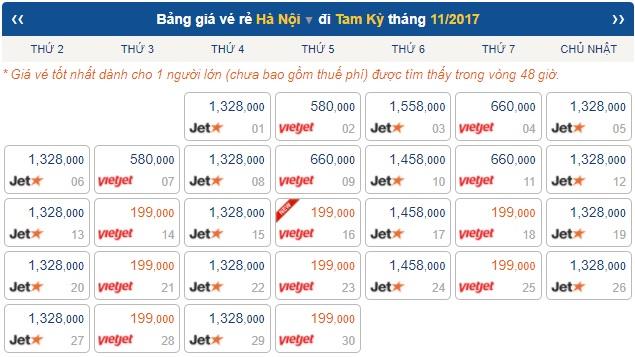Vé máy bay Hà Nội đi tam kỳ