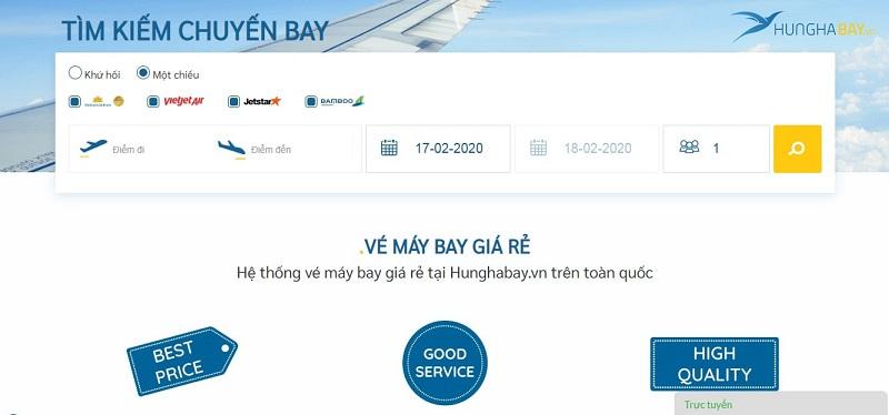 Hướng dẫn đặt vé máy bay đi Quảng Ninh giá rẻ tại hunghabay.vn