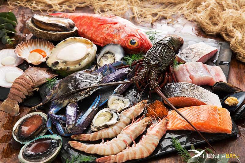 Các món chế biến từ hải sản tươi ngon