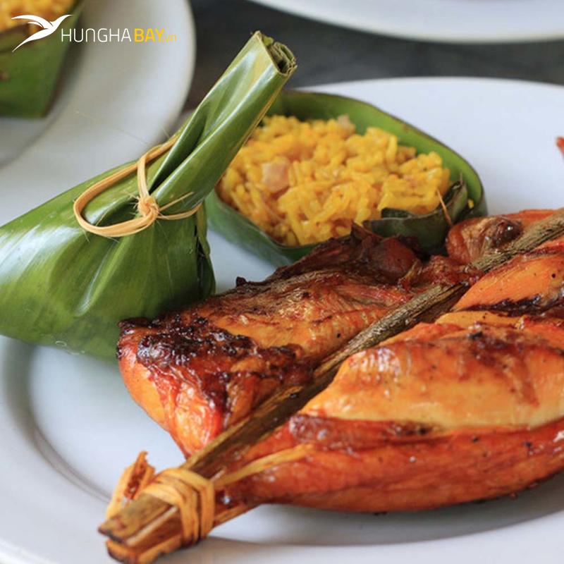 Gà nướng Savanakhet - Lào
