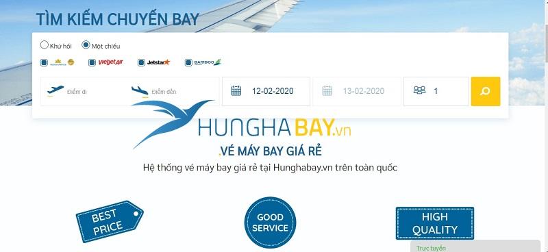 Đặt mua vé máy bay đi Hà Nội tại hunghabay.vn