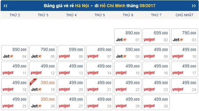 Vé máy bay đi HCM giá rẻ