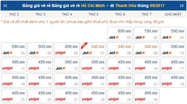 vé máy bay giá rẻ đi thanh hóa