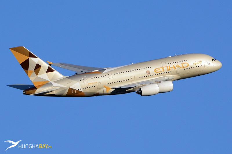vé máy bay Eithad Airways - thông tin chặng bay