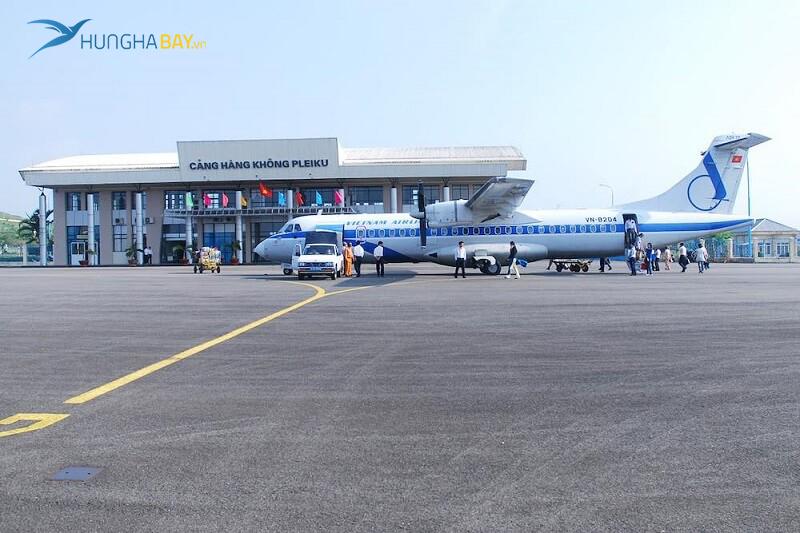 vé máy bay đi Kon Tum tại sân bay Pleiku