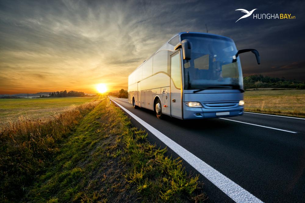 Di chuyển từ sân bay Chu Lai đến thành phố Quảng Ngãi bằng xe bus công cộng tại sân bay