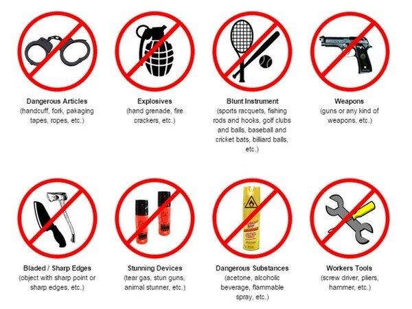 Những đồ vật tuyệt đối bạn không được mang lên máy bay