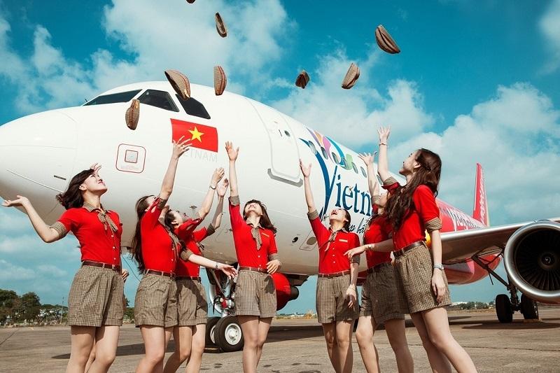 Mua vé máy bay khứ hồi Hà Nội giá rẻ của hãng hàng không Vietjet Air