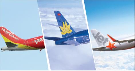Thông tin chuyến bay và giá vé máy bay nội địa của các hãng máy bay
